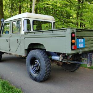 1985 LR RHD Landrovr 127 Green A left rear