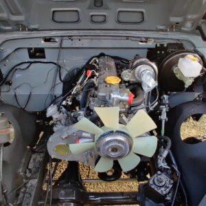 1993 LR LHD Defender 130 day 21 engine bay front