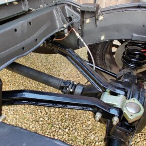 1993 LR LHD Defender 130 day 21 rear chassis A frame close