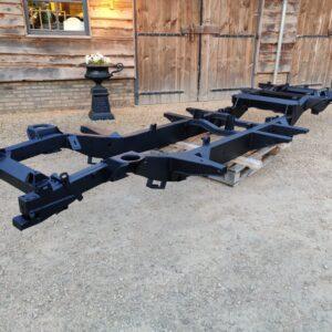 1993 LR LHD Defender 130 resto frame galvanised , primed and coated left front