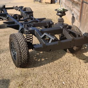 1993 LR LHD Defender 130 rolling frame left rear