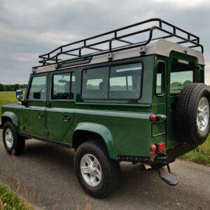LR LHD 1995 Defender 110 300 Tdi Conisten Green B left rear