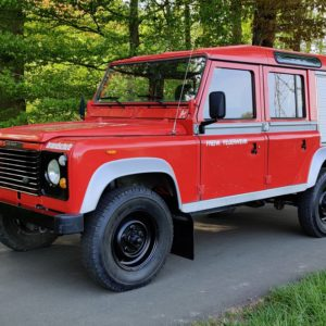1985 LR LHD Defender 110 V8 8500 km 1 no logo left front