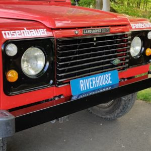 1985 LR LHD Defender 110 V8 8500 km A grill close