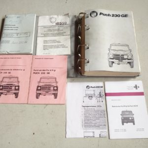 1991 Mercedes G Class 460 Soft Top, 230 GE Auto BOOKS