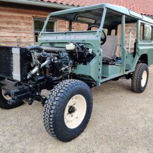 1994 LR LHD Defender 110 300 Tdi Keswick day 12 body no doors left front