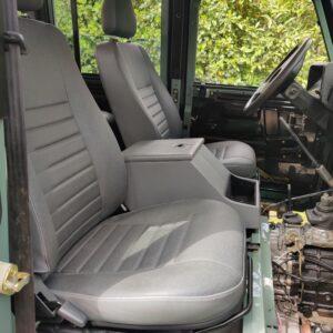 1994 LR LHD Defender 110 300 Tdi Keswick day 17 front PUMA seats Denim Twill