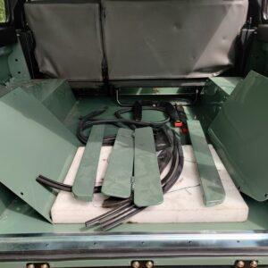 1994 LR LHD Defender 110 300 Tdi Keswick day 17 panels on loadfloor