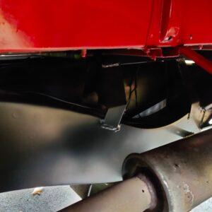 1992 LR LHD Defender 110 V8 Fire Dept 9900 km chassis left rear rear