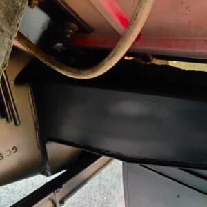 1992 LR LHD Defender 110 V8 Fire Dept 9900 km chassis outrigger left