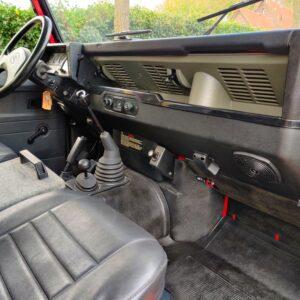 1992 LR LHD Defender 110 V8 Fire Dept 9900 km interior dash and trim
