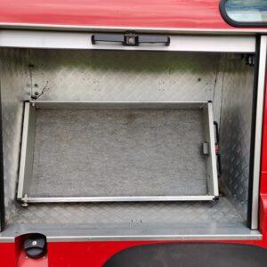 1992 LR LHD Defender 110 V8 Fire Dept 9900 km interior locker right side