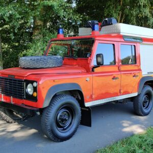 1992 LR LHD Defender 110 V8 Fire Dept 9900 km right front