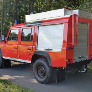 1992 LR LHD Defender 110 V8 Fire Dept 9900 km right rear