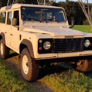 1996 LR LHD Defender 110 White 300 Tdi front