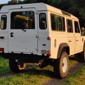 1996 LR LHD Defender 110 White 300 Tdi rear