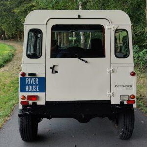 1995 LR LHD Defender 90 Tdi White rear