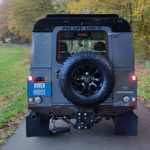 2015 LR LHD Defender 110 2.2 Grey metallic rear