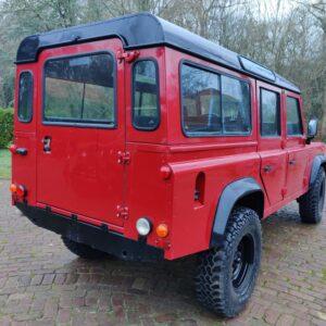 1993 LR LHD Defender 110 200 Tdi Red Black right rear