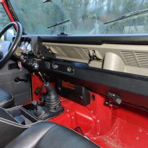 1993 LR LHD Defender 110 200 Tdi Red interior dash and trim