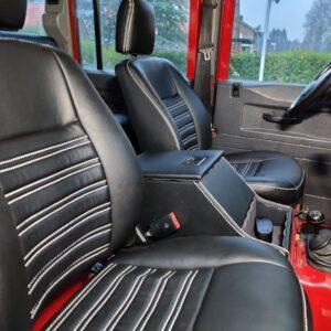 1993 LR LHD Defender 110 200 Tdi Red interior front seats