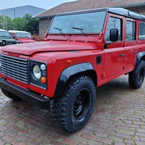 1993 LR LHD Defender 110 200 Tdi Red with Black left front