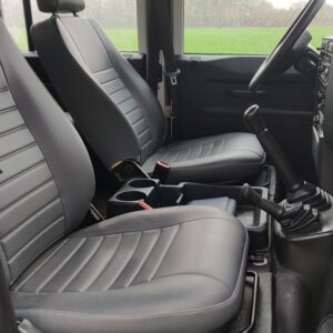 2010 LHD LR Defender 130 White Tdci interior front seats