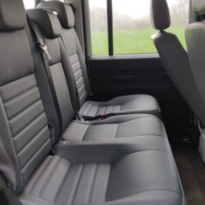 2010 LHD LR Defender 130 White Tdci interior rear seats