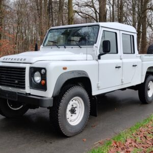 2010 LHD LR Defender 130 White Tdci left front