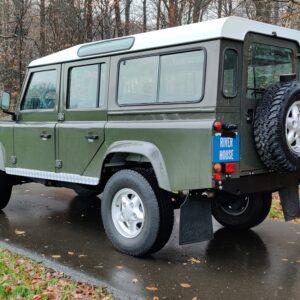 1996 LR Defender 110 300 Tdi Dark Green A left rear