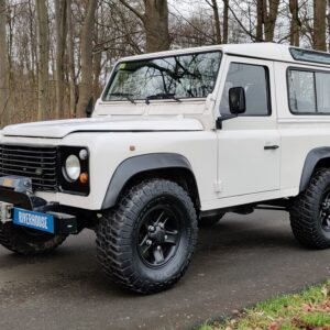 1997 LR LHD Defender 90 300 Tdi White left front