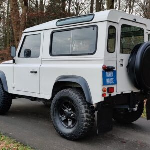 1997 LR LHD Defender 90 300 Tdi White left rear