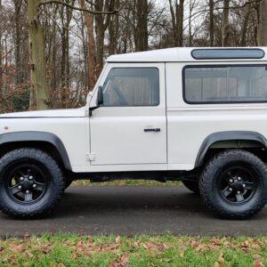 1997 LR LHD Defender 90 300 Tdi White left side