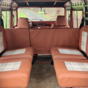 2001 LR LHD Defender 110 Coral Orange Soft Top 4 jump seats