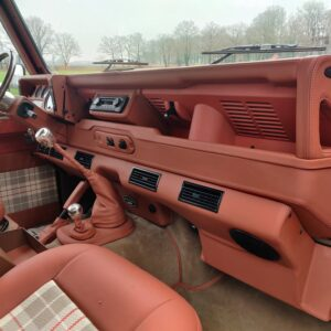2001 LR LHD Defender 110 Coral Orange Soft Top dash and trim