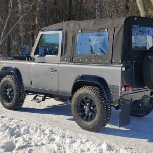 2010 LR LHD Defender 90 Orkney Grey A snow left rear