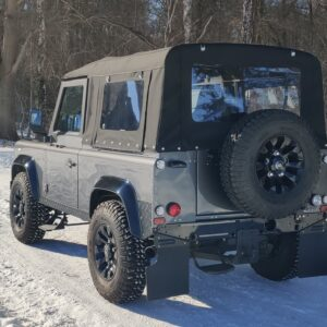 2010 LR LHD Defender 90 Orkney Grey A snow left rear rear