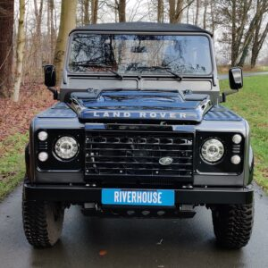 2010 LR LHD Defender 90 Orkney Grey Soft Top A Black hood front
