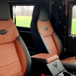 2010 LR LHD Defender 90 Orkney Grey Soft Top A Black hood front seats