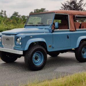 1996 LR LHD Defender 90 300 Tdi Heritage A Blue left front