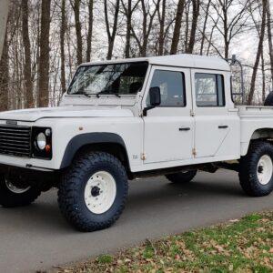 1993 LR LHD Defender 130 White 200 Tdi left front