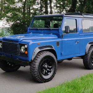 1991 LR LHD Defender 90 200 Tdi Electric Blue left front