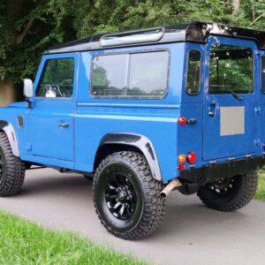 1991 LR LHD Defender 90 200 Tdi Electric Blue left rear
