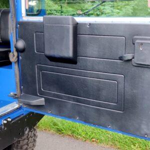 1991 LR LHD Defender 90 200 Tdi Electric Blue rear doorcard