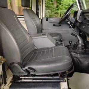 1996 LR LHD Defender 90 300 Tdi White front seats