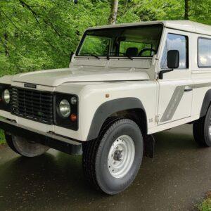 1996 LR LHD Defender 90 300 Tdi White left front