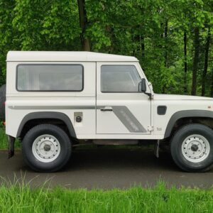 1996 LR LHD Defender 90 300 Tdi White rightt side